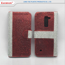 Hot Sale Diamond Flip Leather Phone Case for LG G3 Cover, Wallet Phone Cover Case for LG V20 G3 VS 985 4G