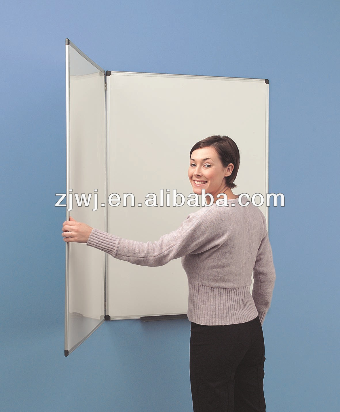 Folding whiteboard 60x90cm 3 PANEL/folding wall mounted magnetic whiteboard