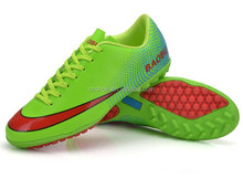 Huijin OEM Breathable TPR football sole green men used sports shoes