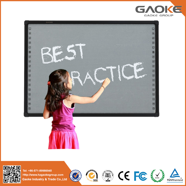 Made in China Gaoke CE 96'' 104'' 130''board school CE smart board for sale 82 inch smart board interactive whiteboard