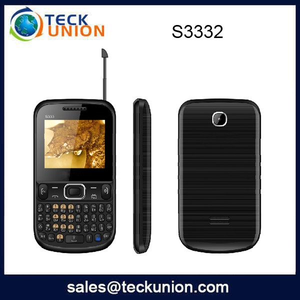 S3332 2.2inch qwerty keybiard cellular handphone support tv function