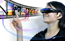 "Portable MP4 Glasses Audio Video Player/ Mobile Theatre - 52"" Virtual Wide Screen Display"