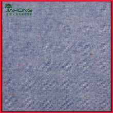 Neps cotton chambray twill flannel fabric