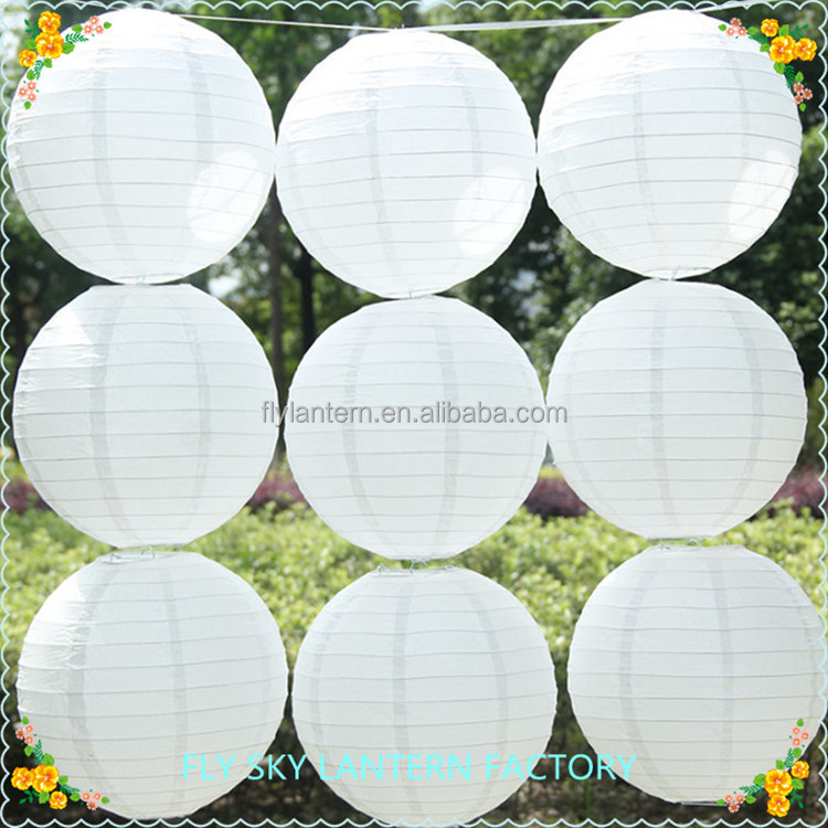 Factory direct sale white 100pcs/set round paper lantern paper lampion wholesale for wedding decorations