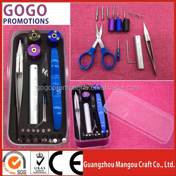 2017 New vape mod e-cig magic stick CW 6-in-1 Wire Coiling DIY tool <strong>kit</strong> with fast delivery