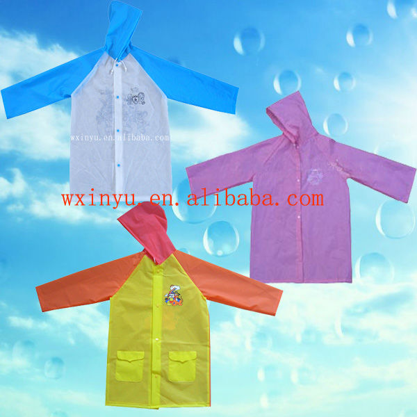 E10 Lovely EVA waterproof kids raincoat