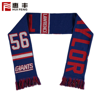 Custom Soccer Style Romania Knitting Scarf Trade Assurance Supplier