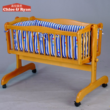 Alibaba China wholesale wooden cradle automatic swing baby carriage crib