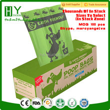 Eco-friendly materia certificate scented poop bags biodegradable/poop bags dog/christmas biodegradable dog poop bags set