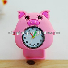 Trendy Cheap Watches silicon slap watch bright color water proof