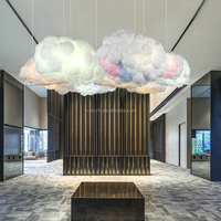 C-743 Contemporary simple residential restaurant chandeliers LED clouds chandeliers