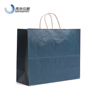 Extra Large Size Navy Bule Color Kraft Paper Tote Bag