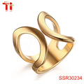 Stainless Steel Cuff Ring for Women Engagement Promise Engagement Marriage 14k gold jewelry wholesale
