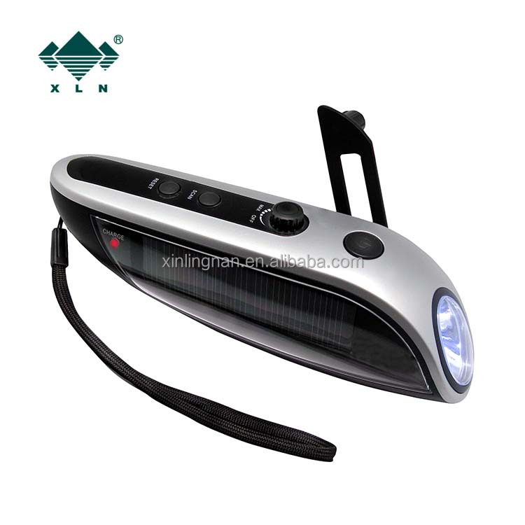 Rechargeable Solar Torch Radio With Phone Charger