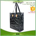 custom PU leather textured embossed gross laminated non woven reusable fashion shopping bag alibaba trade assurance
