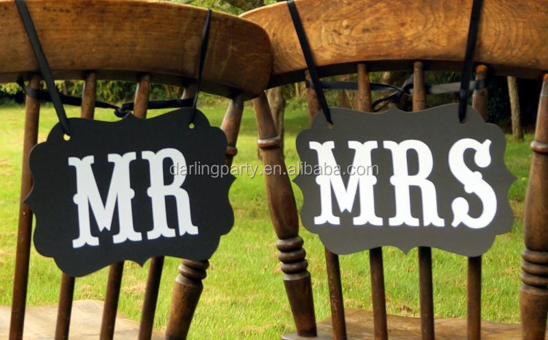 Mr & Mrs Wedding Party Kraft Paper Banner New Product