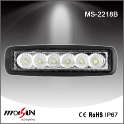 "6"" 18W LED work light,snowmobile driving light,cheap led light bar"