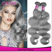 2015 Most popular products brazilian body wave grey hair wefts