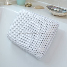 Comfort White Waterproof Bath Pillow - Relax and Unwind! Bath neck support pillow