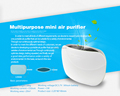 Portable usb air purifier for car and home