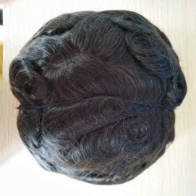 high-end undetectable natural hairline hairpieces french swiss full lace toupees