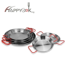 Wholesale cheap price high quality stainless steel Paella Pan