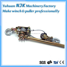 High quality 2T ratchet puller/wire rope tightener/ratchet cable puller