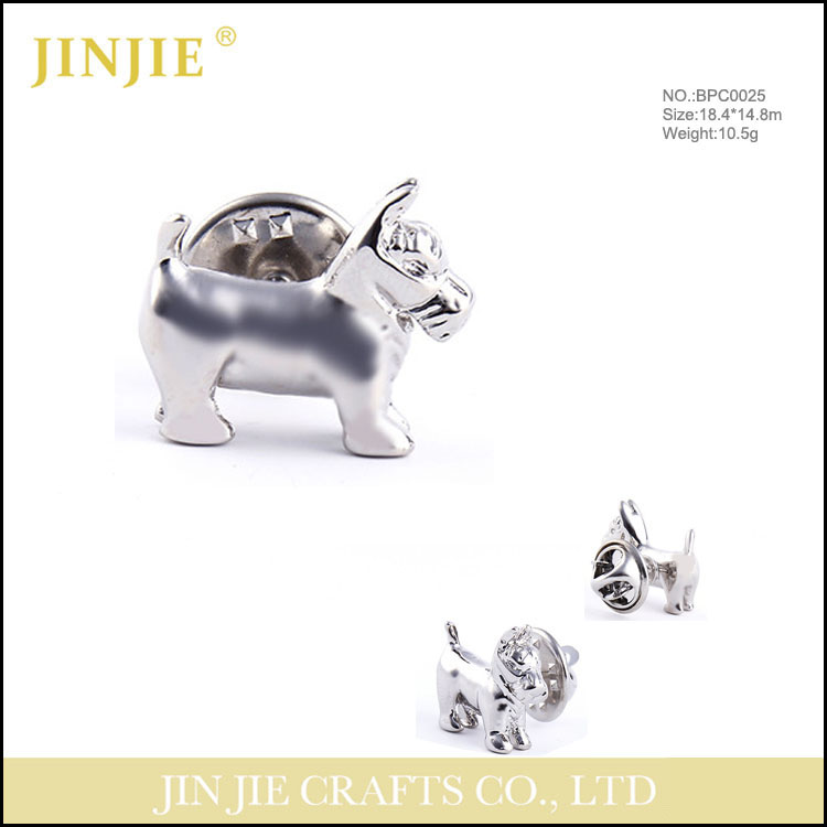 Animal brooch CC brooch silver brooch