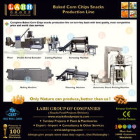 Extruded Baked Corn Chips snacks complete production line