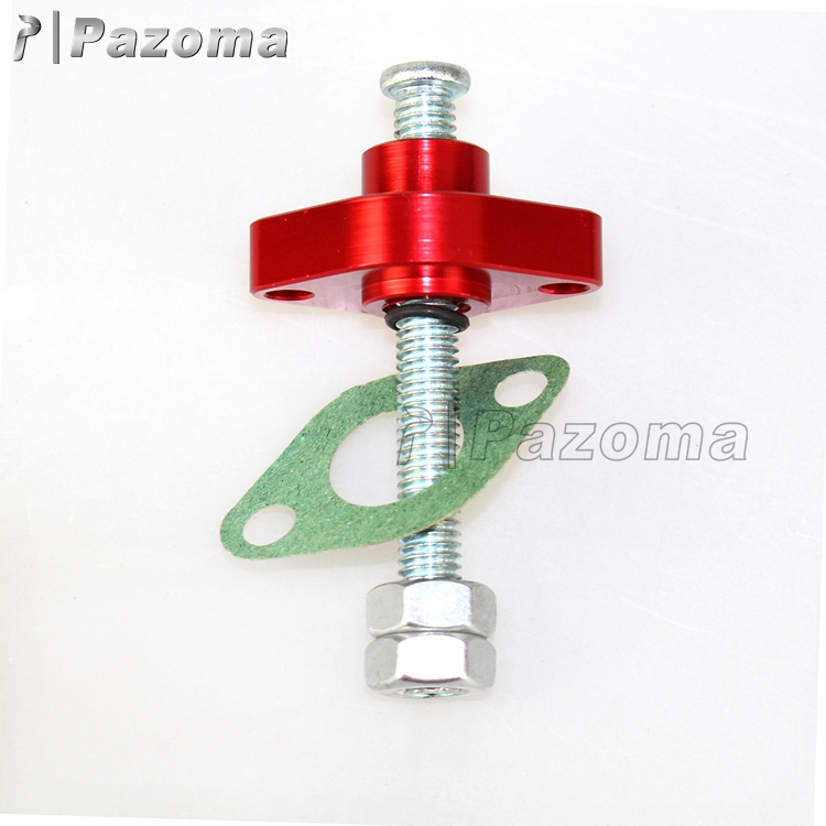 Pazoma High Quality Aluminum Red Motorcycle Chain Tensioner Manual Cam Timing ATV Chain Tensioner For 99-03 YZF 1000R1