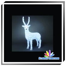 Pure white father.mother and baby 3d christmas reindeer light made by LED string light for christmas decoration
