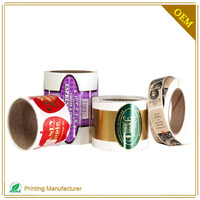 Custom Cheap Liquor Bottle Thermal Labels Roll With LOGO Printing