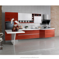 Fully prefabricated kitchen unit/stainless steel top kitchen cabinet/cheap kitchen cupboard