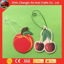 2015 Good quality Hanging custom fruit shape paper car air freshener for promotion