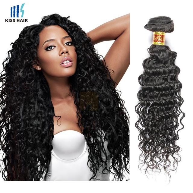 Factory Wholesale 6A Virgin Peruvian Hair Weave Unprocessed Deep wave Hair Extension