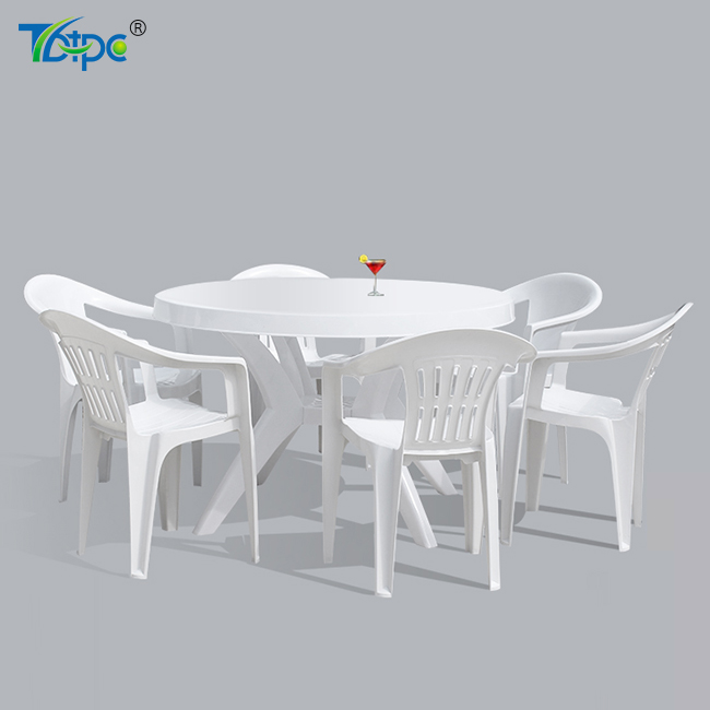 TB-401 best price PP material outdoor garden beach plastic round table