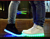 led women sneaker manufacturer zapatillas de deporte glowing at night