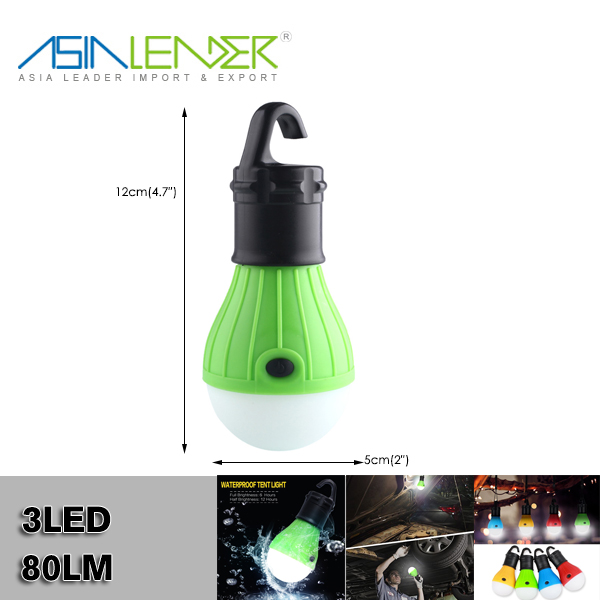 Outdoor Portable Hanging 3LED Camping Tent Bulb Light