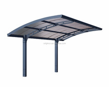Outdoor foldable aluminium waterproof carport with polycarbonate roofing