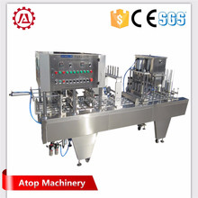 Full automatic plastic cup filling machine and sealing for water milk yogurt jelly