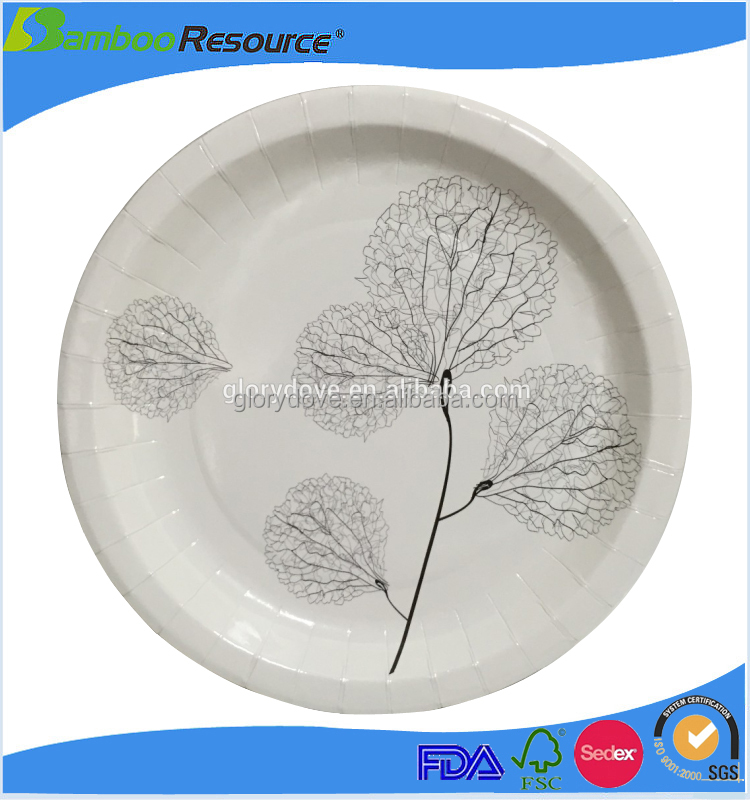 Discount price disposable custom baby shower paper plates