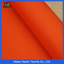 High visibility waterproof polyester cotton 50/50 orange fluorescent workwear fabric