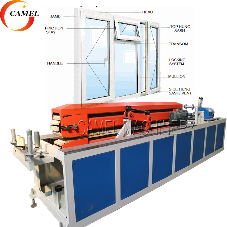 upvc window door frame making machine/ pvc profile extrusion <strong>line</strong>