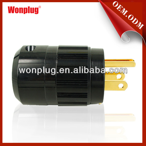 15A/125V Male Power AC Power Cord Plug