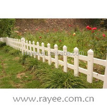 pvc portable fence panels/ plastic garden fence,valla de estacas,cerca do jardim branco