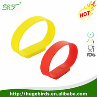 Custom promotional wristband usb flash drive, promotional gift silicone wristband usb 4gb easy to plug