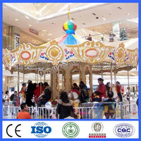Amusement park attractions merry go rounds for sale 12 seats carousel for kids