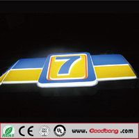 ABS PVC Material advertising sign abord for advertising