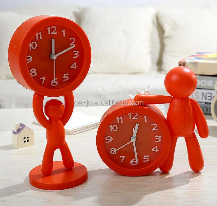 Plain Cartoon Figures Boys Clock