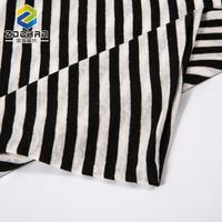 precisely good black and white stripe linen tencel fabric for garment